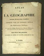 CARTES ATLAS DE LA GEOGRAPHIE ANCIENNE DU MOYEN AGE ET MODERNE 1831 DELAMARCHE