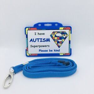 🧩I Have Autism Superpowers - Disability Awareness ID card and Lanyard