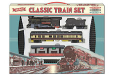 LARGE CLASSIC TRAIN SET Tracks Carriages Tanker Light Toy Engine Gift Battery