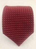 "Men's DONALD J TRUMP Signature Red White Dots Silk Tie 59.5"" - 3.5"""