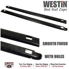"""72-41114 Westin Black Bed Rail Caps Chevy Silverado 5'8"""" Bed 2007-2013"""
