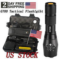 Super-bright 50000lm Tactical Flashlight CREE LED Military Torch with 18650