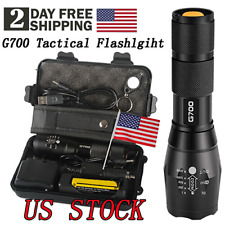 Super-bright 50000lm Tactical Flashlight CREE L2 LED Military Torch with Battery