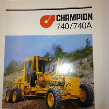 Champion 740/740A Road Grader Sales Brochure & specifications.