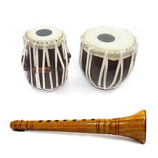 Handmade Crafted 8 Years Kids Playing Musical Wooden Shehnai and Tabla Set Combo