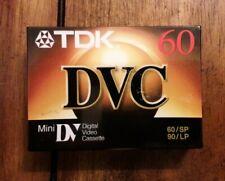 1 TDK DVC 60 Superior Grade Mini DV Camcorder Tape Brand New Sealed