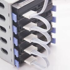 1 To 5 SATA 18AWG For HDD SSD White Power Cable Splitter Adapter PC Server