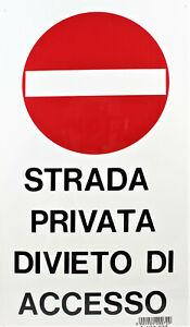 Lotto 40 Cartelli Segnaletica Letterfix 25 x 44 cm in PVC