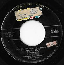 April Love / When The Swallows Come Back To Capistrano Pat Boone VG-