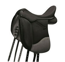 "SELLA WINTEC ISABELL WERTH  DRESSAGE ADJUSTABLE SADDLE CAIR AIR SYSTEM 17"" BLACK"