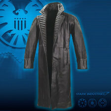 MUSEUM REPLICAS Avengers Nick Fury Black Leather Trench Coat S/M FREE SHIPPING