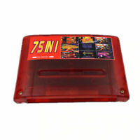 Super 75 in 1 Game 16 Bit for Nintendo SNES Multi Cart Game Cartridge NTSC-J PAL