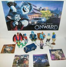 Disney Onward Movie Figure Set of 14 Toy Kit with 10 Figures, 4 Fun Stickers