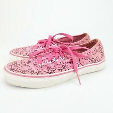 Vans Pink Hello Kitty Canvas Tennis Shoes Skate Shoe Women's Size 6.5
