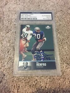 Mel Renfro Autographed Signed 1997 Upper Deck Card Dallas Cowboys PSA/DNA NFL