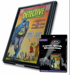 Silver Age Comic Book Showcase lot of 5 plastic frame wall display case BCW new