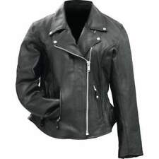 Rocky Mountain Hides Ladies Solid Genuine Buffalo Leather Motorcycle Jacket XL
