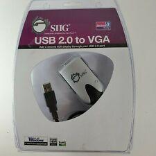 SIIG USB 2.0 to VGA External Video Adapter, USB/VGA Converter (JU-000071-S1)