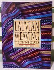 Latvian Weaving Techniques! Book by Anita Apinis-Herman! Vintage Craft Book!