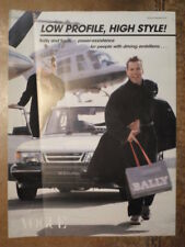 SAAB 900 TURBO & BALLY SHOES orig 1980s UK Mkt Publicity Brochure from Vogue Mag