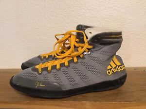 Men's ClassicJake Varner Adizero XIV Sz 8.5 Grey Adidas Wrestling Shoes M18727