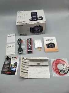 Canon EOS 7D - Genuine Box w/ Software Manual Strap Cord *Only*