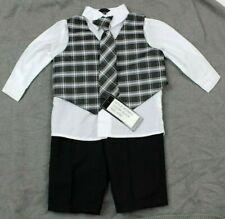 Andrew Fezza Boys 4 Piece Suit Set Black Size 6-9 Months