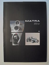 MATRA M72 CONCEPT CAR orig 2002 Media Info Pack / Press Kit with CD & Photos etc