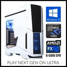 Nvidia 8-Core Gaming Computer Desktop PC Tower 3.6GHz Turbo 16GB RAM GTX 1060