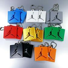 Custom 3D Printed Air Jordan Style HangTag Shoe Tag Key Chain 14 Colors Set of 2