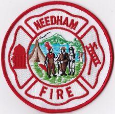 Needham Fire MA Massachusetts Firefighter Patch NEW!!