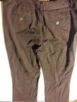 038 Women's Chicos Dress Casual Pants Size 1.5 Dark Brown.