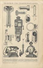 Telephon und Telephonanlagen Siemens und Halske Adersches Bells Brockhaus 0283