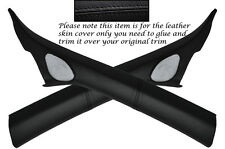BLACK STITCH 2X WINDSCREEN A PILLAR LEATHER COVERS FITS AUDI A3 8P S3 RS3 03-12