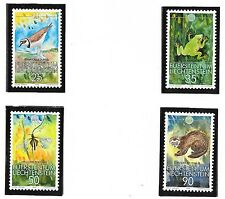 LIECHTENSTEIN SC 907-10 NH issue of 1989 - WWF - ANIMALS