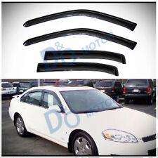 4pcs Smoke Sun/Rain Guard Vent Shade Window Visor Fit 06-13 Impala 14-16 Limited