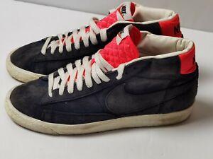 Nike Blazer Mid Suede Leather Blue Vintage Trainers Size UK 8 EUR 42.5 371761
