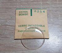 Verre de montre suisse bombé plexi diamètre 354 Watch crystal vintage *NOS*