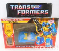 Transformers Original G1 Headmaster Nightbeat Complete Box Bubble Sealed Sticker