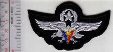 Philippines Air Force PAF Master Pilot Silver Wings Cloth Badge