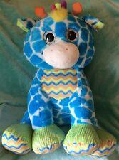 Jumbo PLUSH Blue GIRAFFE 28 Inch Cute Huggable Stuffed Animal by Hug Fun Intl.