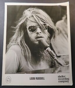 Original Early Leon Russell Press Promo 8 x 10 Photo Shelter Recording Company