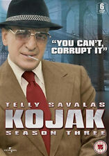 KOJAK COMPLETE SERIES 3 DVD Third Season Telly Savalas Dan Frazer Kevin UK New
