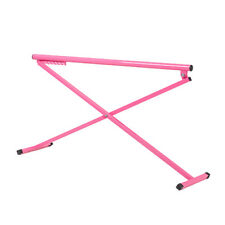Pink Madison Ballet Barre Metal Folding Training Free Standing Height Adjustable