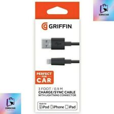 Griffin GC41315-2 Charge/Sync Lightning Cable Connector 0.9M (3ft) Black- iPhone