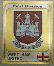 West Ham United FOIL Crest PANINI'S CALCIO 82 STICKERS Figurina PANINI No303