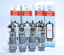 Quartet ecl86 AEG Telefunken Siemens 6gw8 Tube QUAD TESTED NOS NIB Box XXX rare