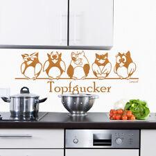 Wandtattoo Topfgucker Eulen Vögel Kochen Küche Essen Wandsticker 573