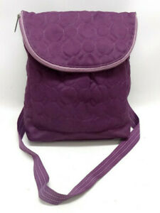 THIRTY-ONE VARY YOU VERSATILE BAG IN PURPLE QUILTED DOTS ~ EUC