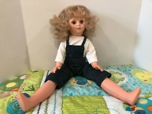 "Vintage 1967 Uneeda Doll Hard Plastic Blonde Hair, Sleepy Blue Eye 25"" tall"